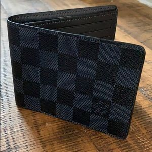 Louis Vuitton black and Grey flat wallet